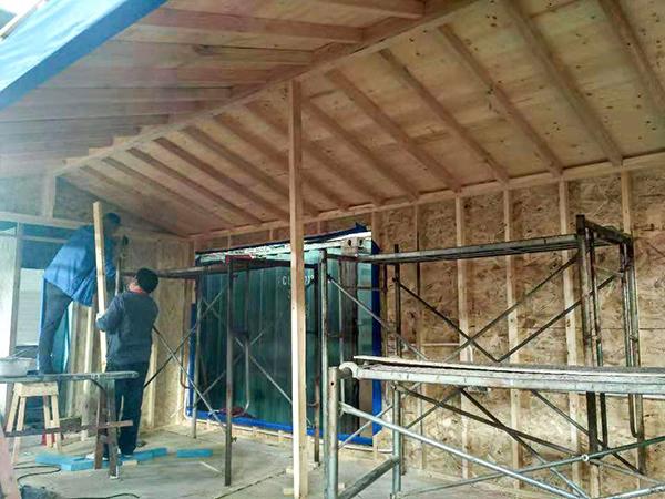 凤凰栖木屋建造-2