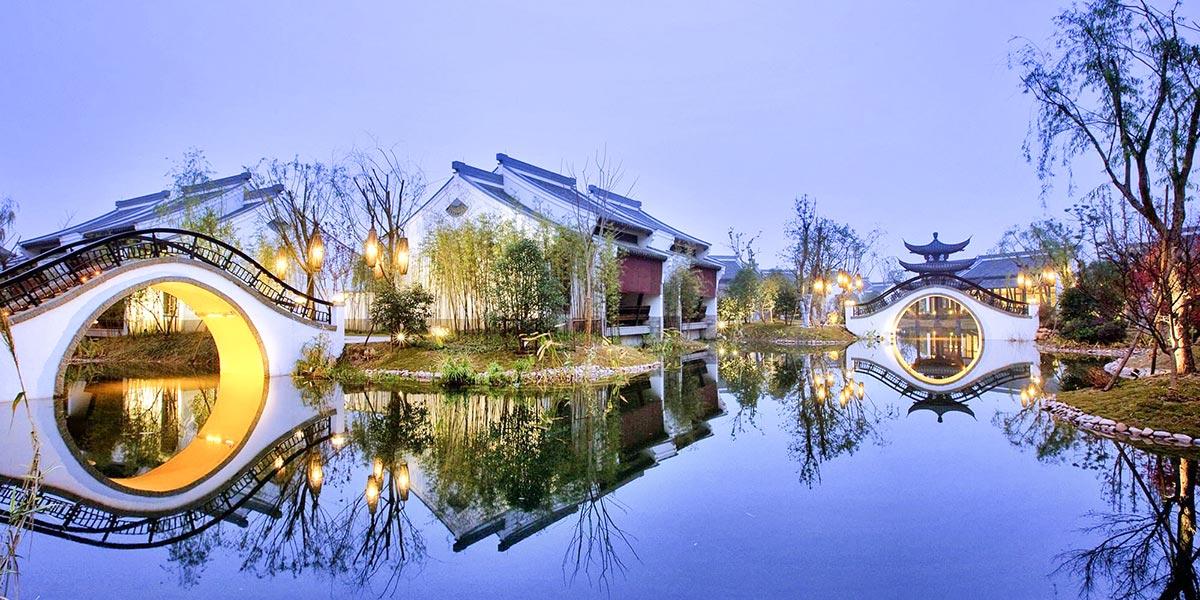 杭州西溪湿地公园木结构建筑