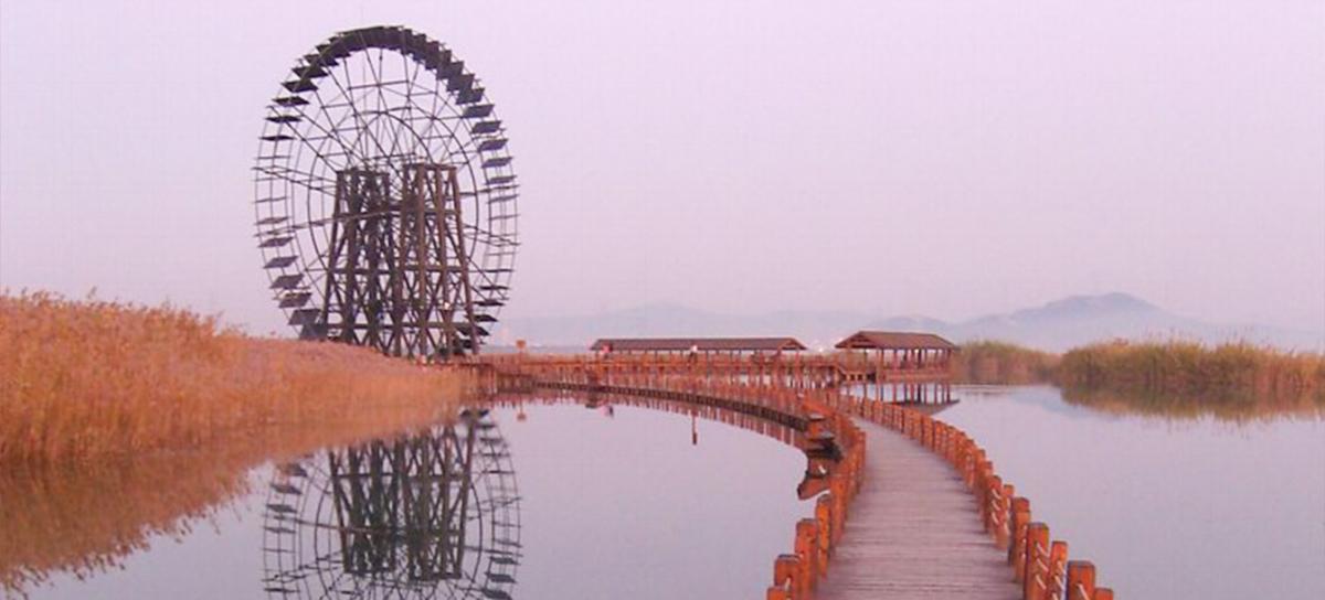 苏州环太湖公园木结构栈道细节(二)