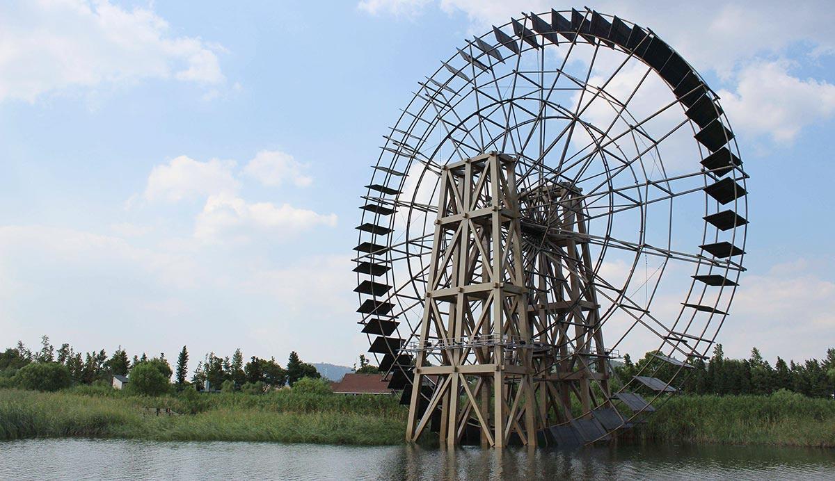 苏州环太湖公园木结构栈道景观工程细节(二)