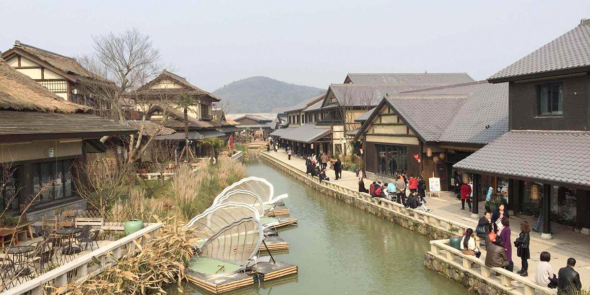 无锡拈花湾禅意小镇木结构建筑细节(一)