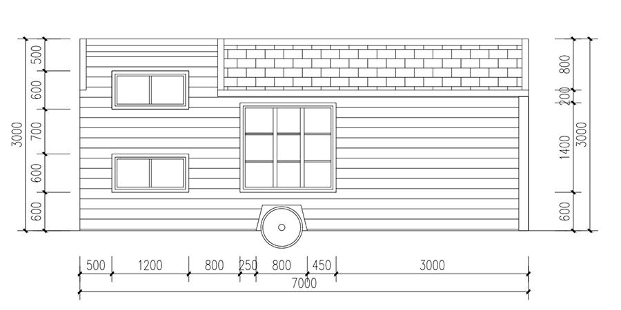 经典A款移动木屋YDZP-003